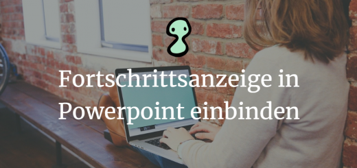 Fortschrittsanzeige in Powerpoint einbinden