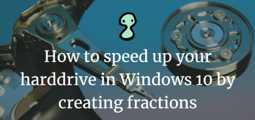 How to speed up your harddrive in Windows 10 by creating fractions