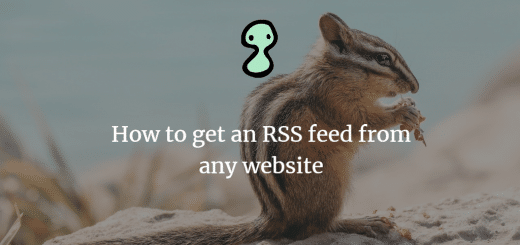 How to get an RSS feed from any website